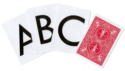 Alphabet Deck Bicycle Poker